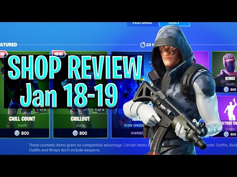 IM BACK! Fortnite Shop Review - Jan 18th-19th. Ninja Set, NEW Permafrost Set & More!