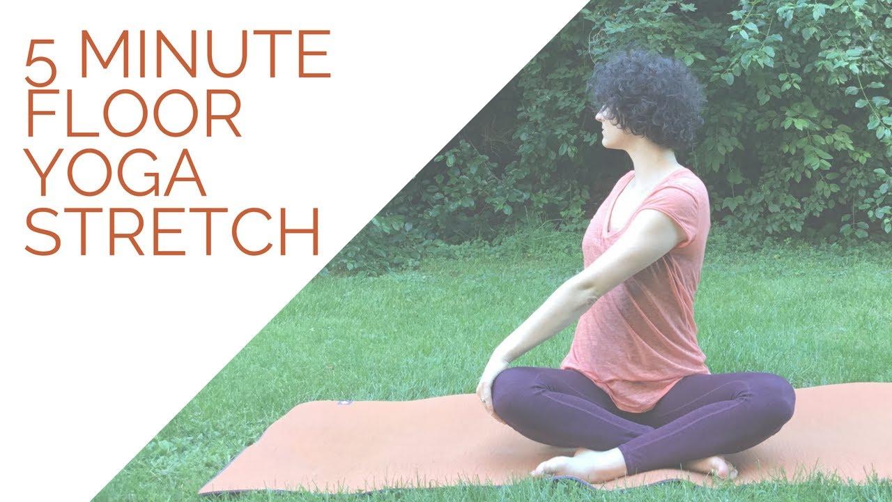 Easy 5 Minute Floor Yoga Stretch