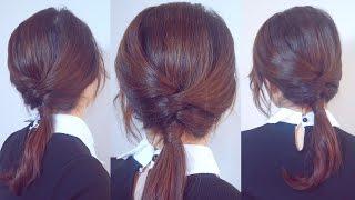 超百搭交叉低馬尾 Easy Daily Ponytail Hairstyle