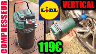 LIDL compresseur vertical PARKSIDE 1800W 50L 10BAR PVKO 50 A1 (as Mecafer  fifty 425090) Compressor