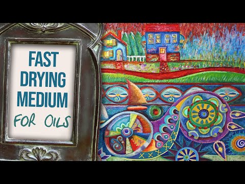 How to Quickly Dry Oil Paintings and Sennelier Oil Pastels Using Winsor & Newton Fast Drying Medium