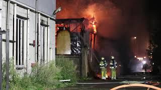 Grote brand in leegstaand pand Veenendaal
