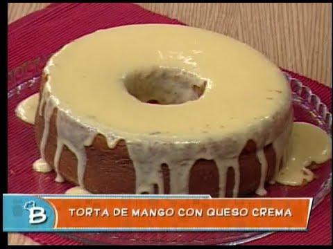 Torta de Mango con queso crema