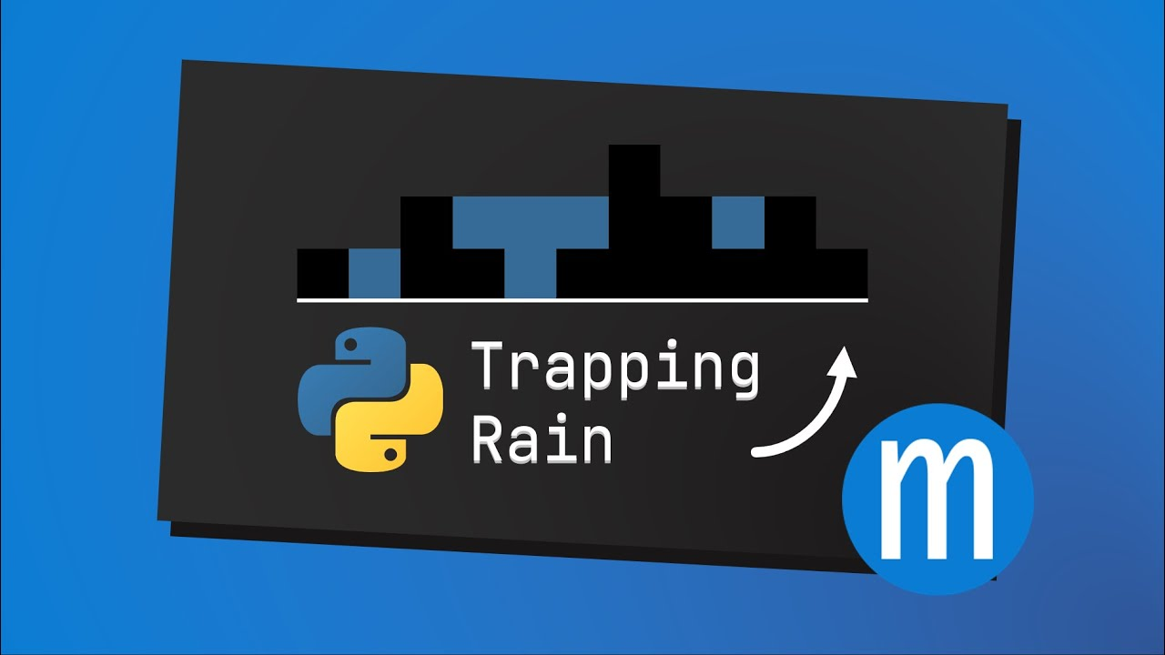 Trapping Rain in Python with Numpy |  LeetCode Hard Interview Solution
