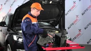 Παρακολουθήστε τον οδηγό βίντεο σχετικά με την αντιμετώπιση προβλημάτων Φίλτρο αέρα AUDI
