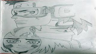 Speed Drawing Obito, Kakashi & rin