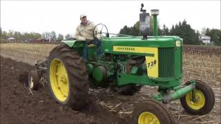 Antique Tractor Plow Day! The John Deere 720 Plowing Along With Members Of The Local Club