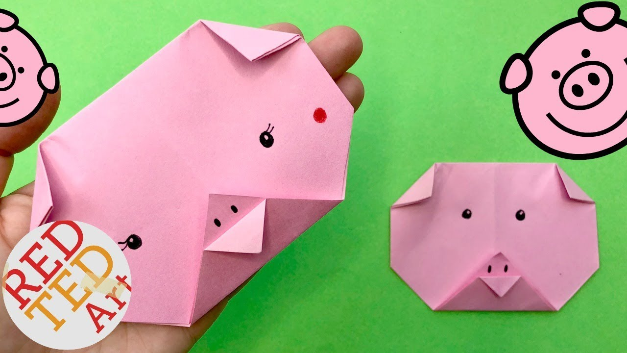 Its Kids Zone Easy Origami Pig Face