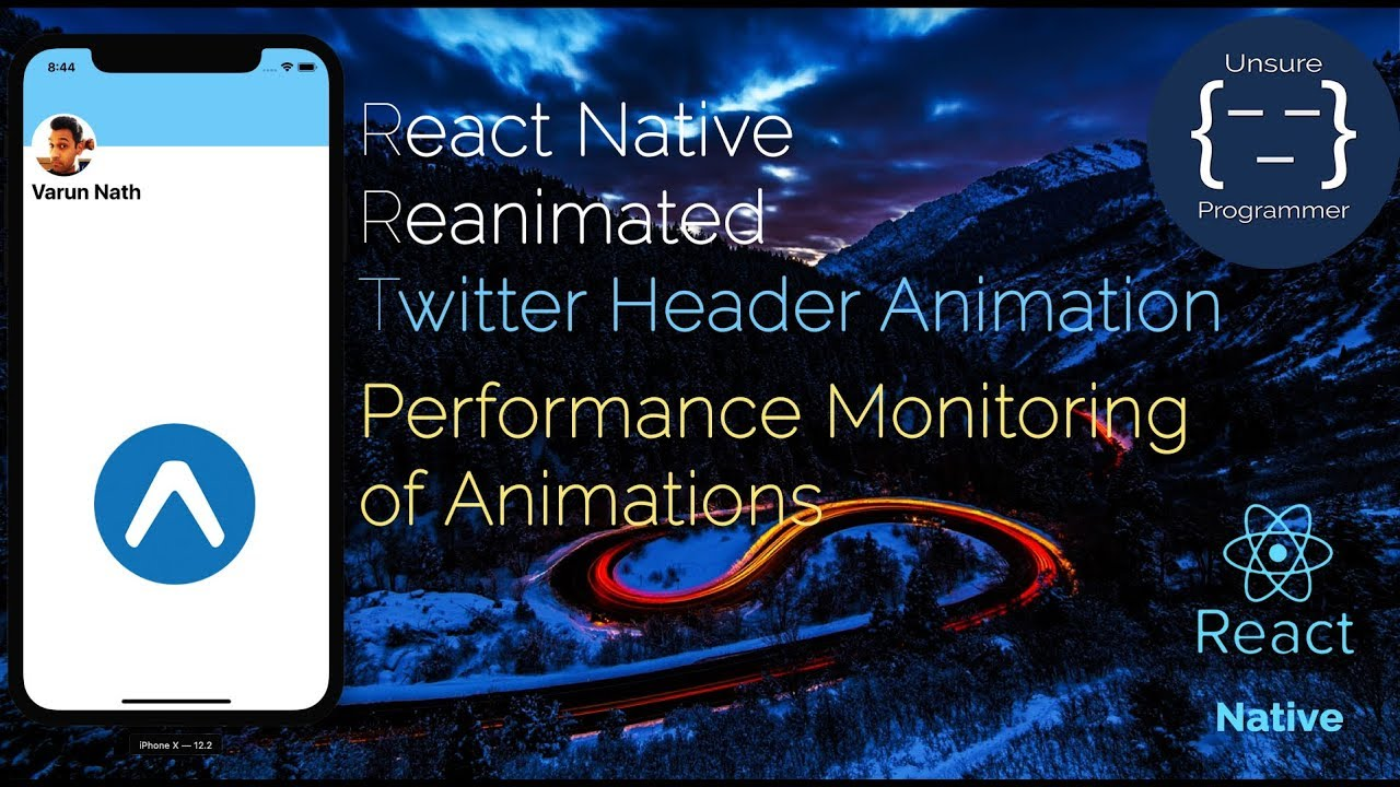 React Native Reanimated Vs Animated Twitter Header Animation And  Performance Comparison!