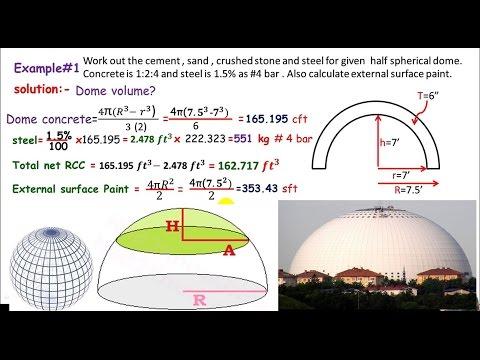 Quantity survey:- Domes materials estimation  - YouTube