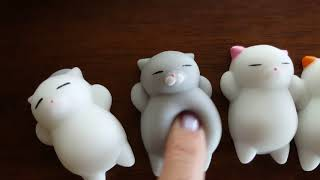 SQUISHIES!! Squishy Kitties Stress Relief Slow Rising Gel Toy Review