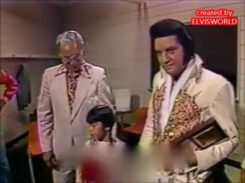 ELVIS PRESLEY, BACKSTAGE JUNE 21ST 1977
