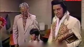 ELVIS PRESLEY, BACKSTAGE JUNE 21ST 1977