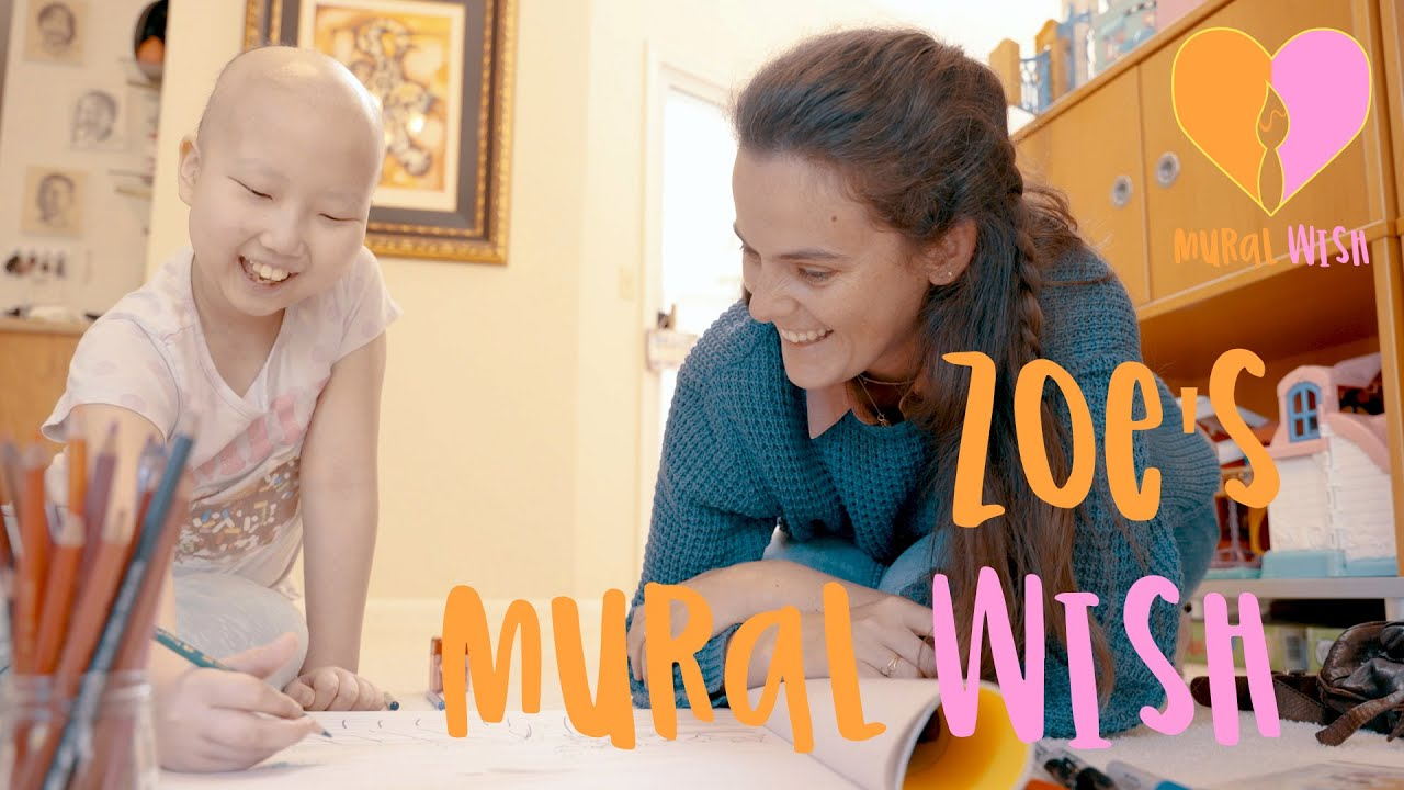 Zoe's Mural Wish Reveal! // Leukemia warrior's message: Never give up! //