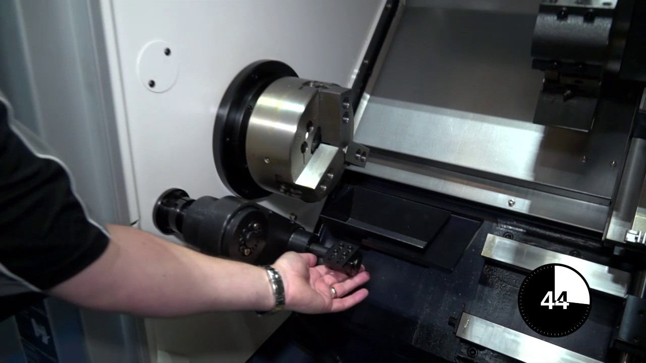 What is a parts catcher on a turning centre Educational video