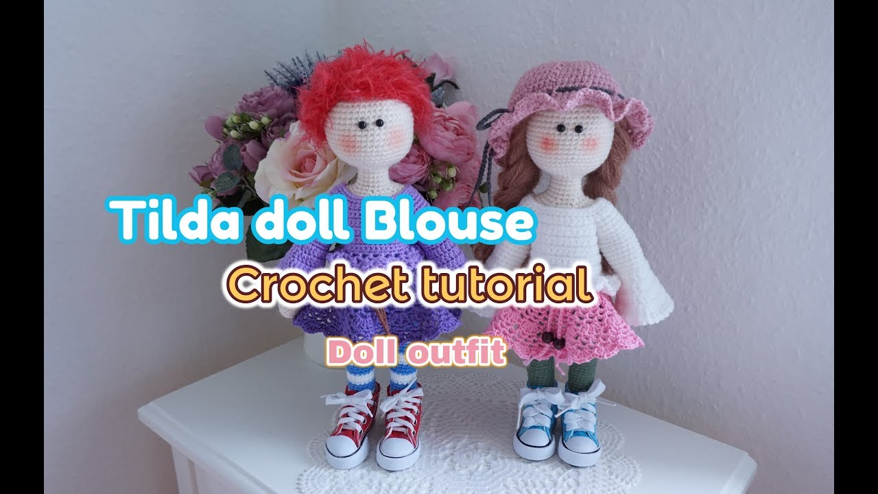How to crochet Tilda doll / Large doll crochet - YouTube | 720x1280