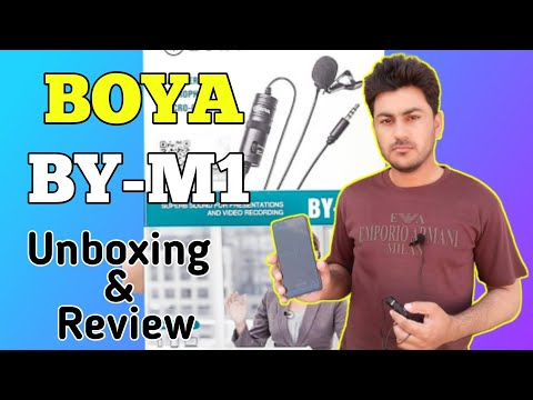 BOYA BY M1 Lavalier Microphone Unboxing & Honest Review 2020