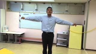 小学校受験のための運動。 今回は《片足立ち》です。 体支持まわり→片足...