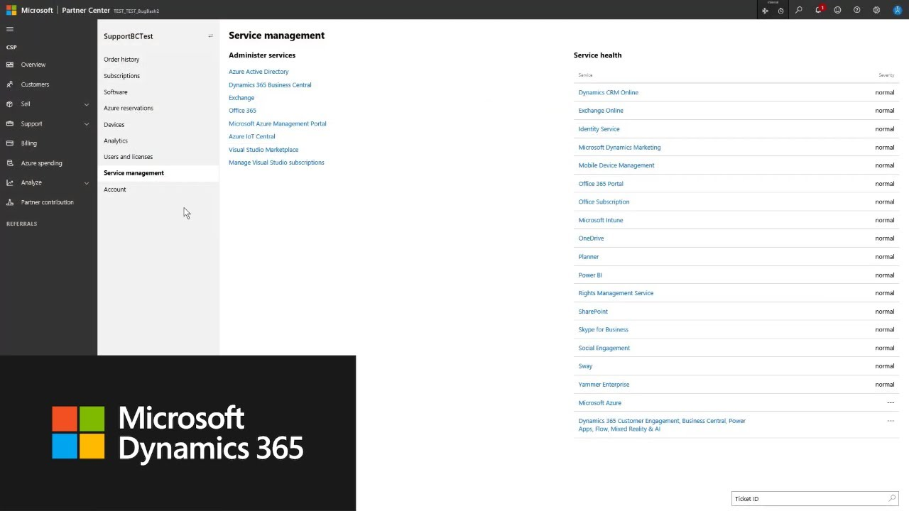 How to submit a support request in Dynamics 365 Business Central