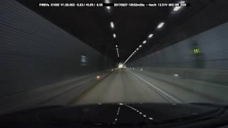 파인뷰 x1000 표준화각) 하얀 조명 터널 전방
