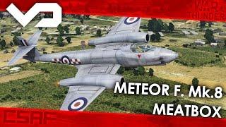 War Thunder CZ - Letadla (17.díl) - Meteor F Mk. 8 - Meatbox [FullHD]