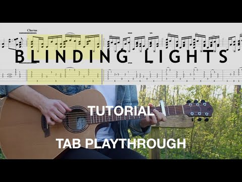 How to play Blinding Lights by The Weeknd - Fingerstyle Guitar Tutorial (Tab Playthrough)