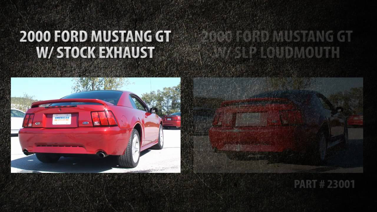 Slp Loudmouth Vs Stock Exhaust 1999 2004 Ford Mustang