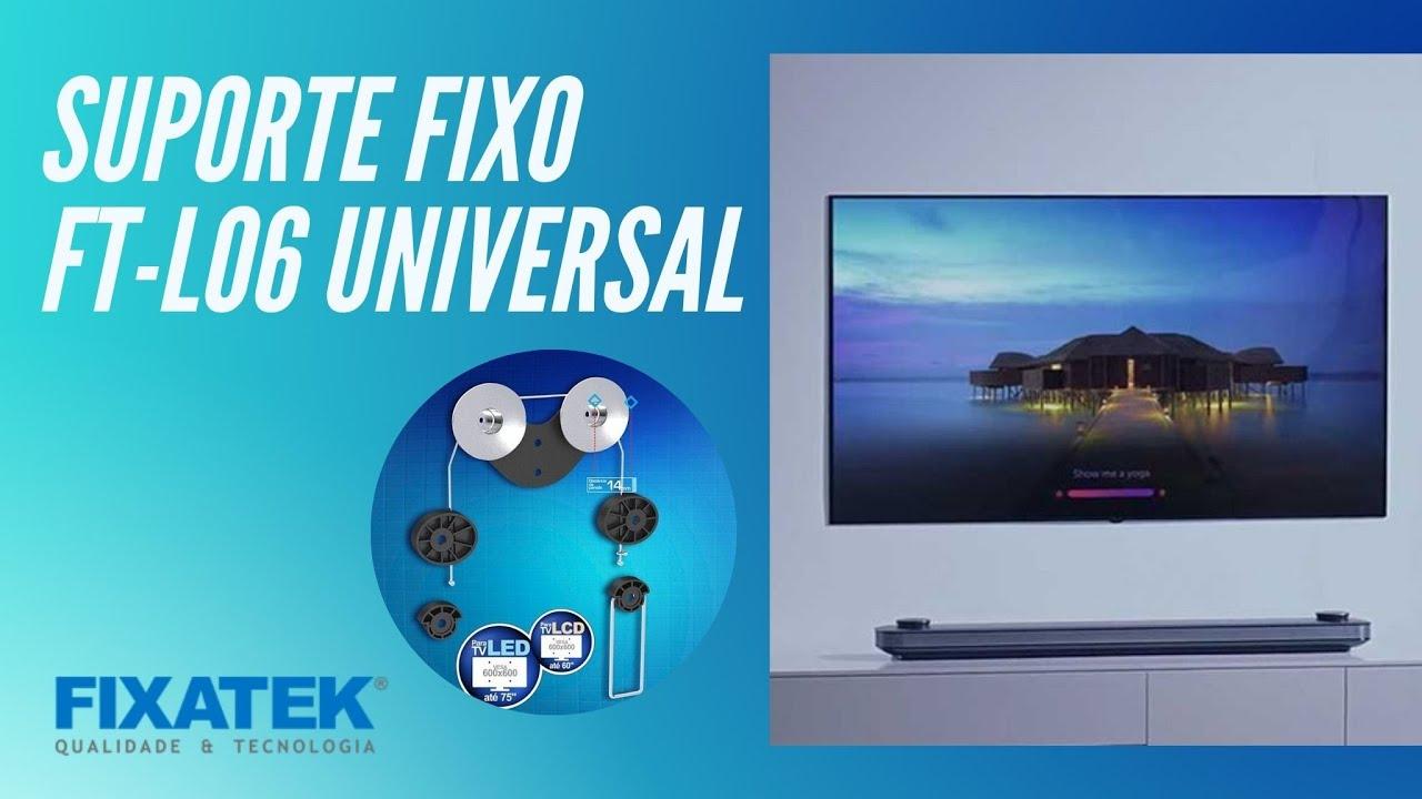 "SUPORTE FIXO DE PAREDE P/ TV LED/LCD DE 23-70"" FT-L06 FIXATEK"