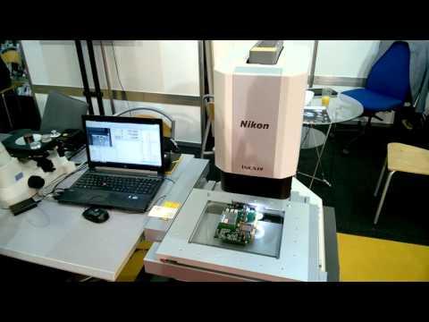 Nikon iNEXIV demonstration, inspecting a PCB