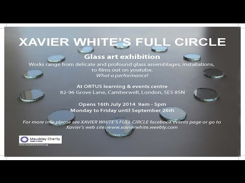 A tour of Xavier White's Full Circle, a glass art exhibition at ORTUS / Maudsley Learning
