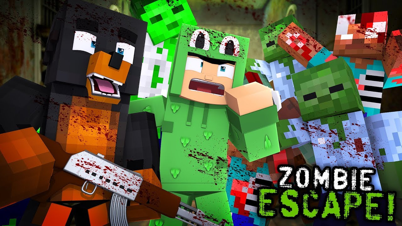 Minecraft ZOMBIE APOCALYPSE CHALLENGE!! - CAN WE ESCAPE THE ZOMBIE  HOSPITAL??w/LITTLE LIZARD