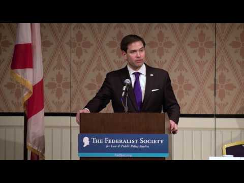 Rubio discusses Supreme Court at Federalist Society's Florida Chapters Conference