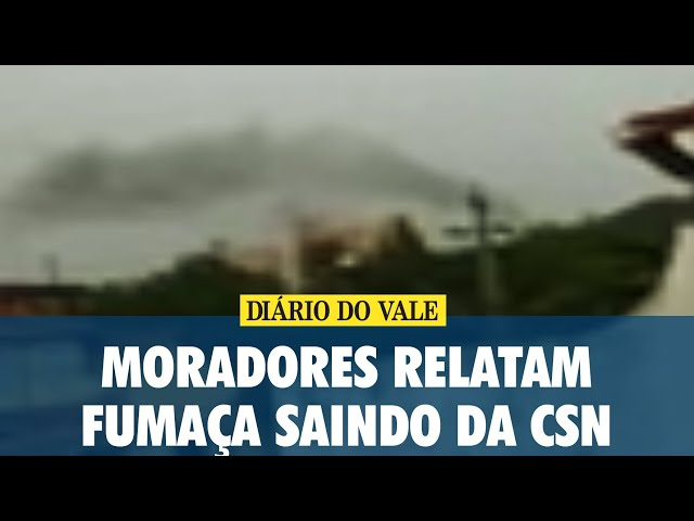 Moradores relatam explosão e fumaça saindo da CSN
