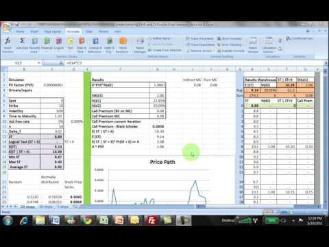 Understanding N(d1) N(d2) - Excel Model walkthrough