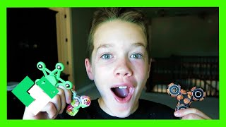 SURPRISE! 3 NEW FIDGET SPINNERS FOR HIS BIRTHDAY! (Day 1866)