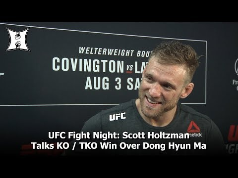 UFC Fight Night: Scott Holtzman Talks About KO / TKO Win Over Dong Hyun Ma In Newark, NJ