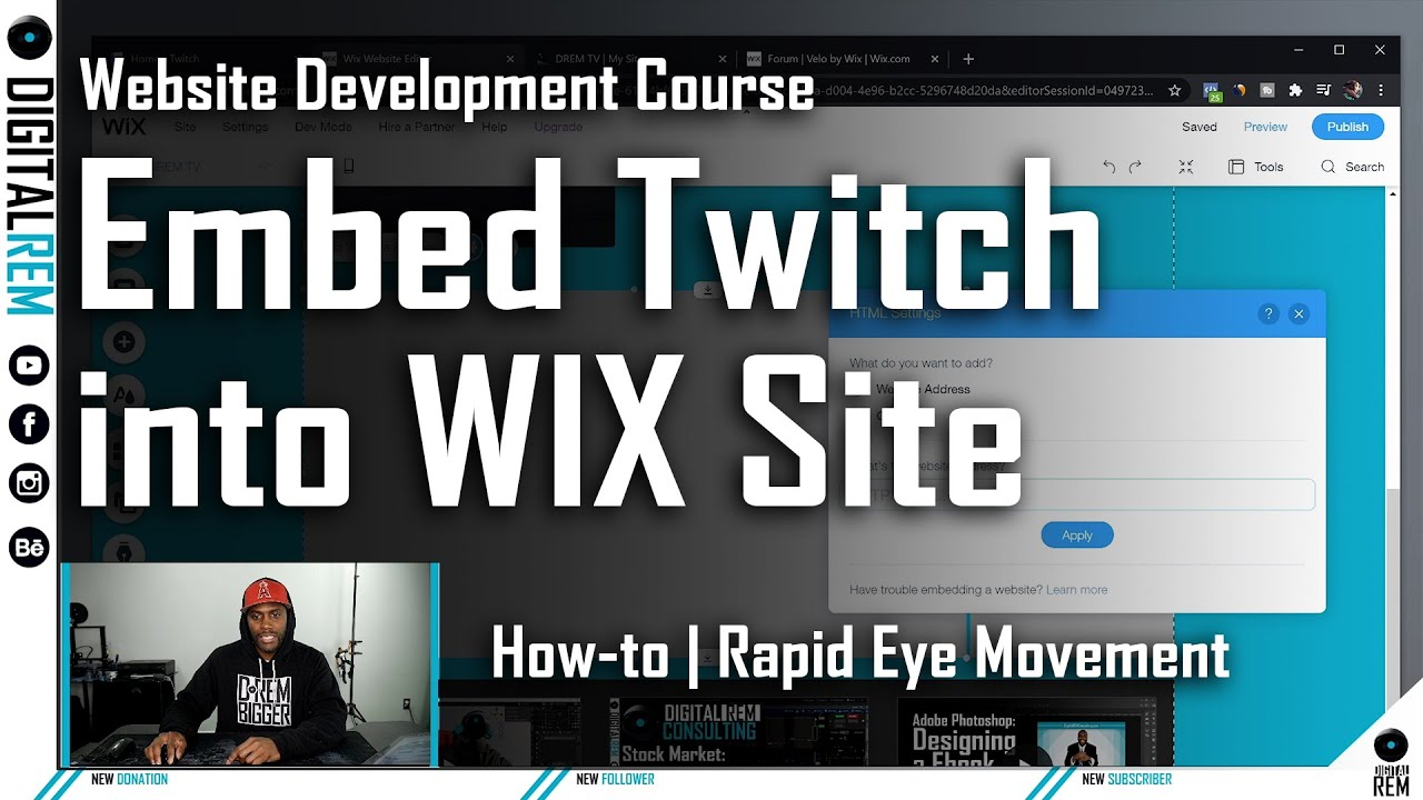 How to Embed Twitch into WIX page | Digital REM Production