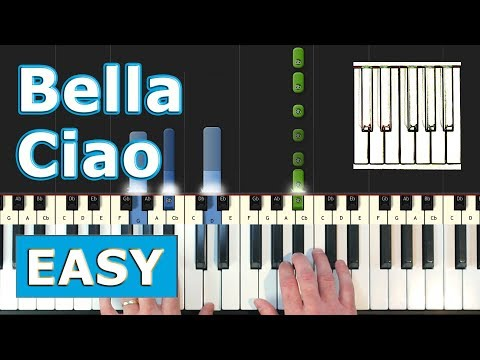 Bella Ciao - EASY Piano Tutorial - Sheet Music (Synthesia)