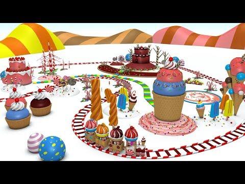 Christmas Cartoon for Kids - Train for kids - Choo Choo Train - Toy Factory  - Christmas Songs