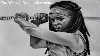 chibi michonne from the walking dead step 12 drawing lesson