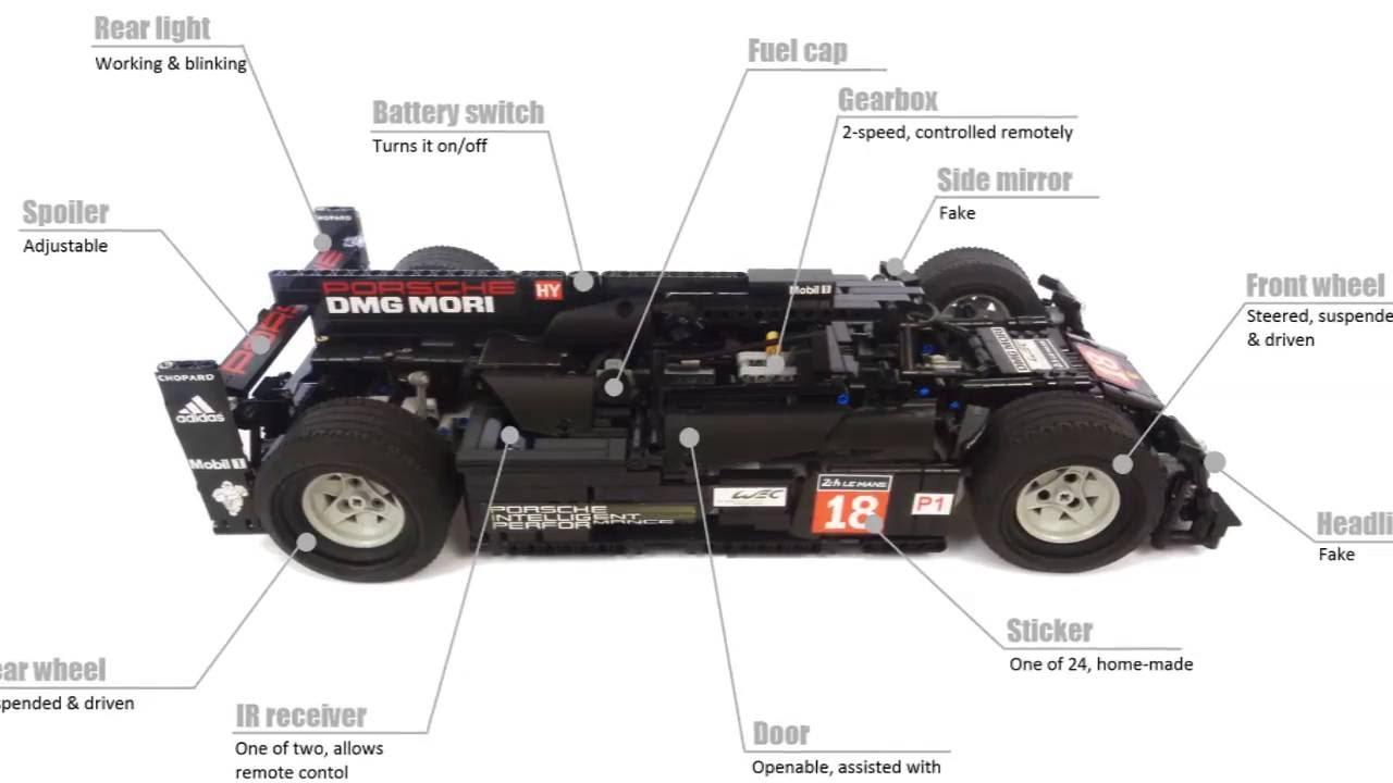 lego technic porsche 919 hybrid by psor 1 minute version. Black Bedroom Furniture Sets. Home Design Ideas