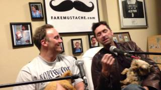 Jay Mohr and Kirk Fox holding puppies: Ep.139