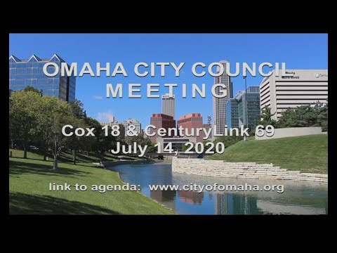 Omaha City Council meeting July 14, 2020.