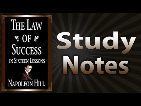 The Law of Success In Sixteen Lessons By Napoleon Hill (Stud