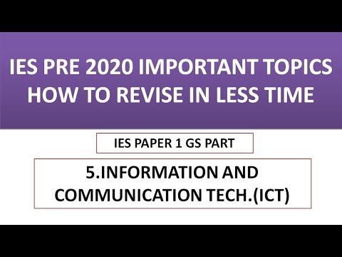 5.INFORMATION AND COMMUNICATION TECHNOLOGIES ICT IMPORTANT TOPICS IES PRE 2020