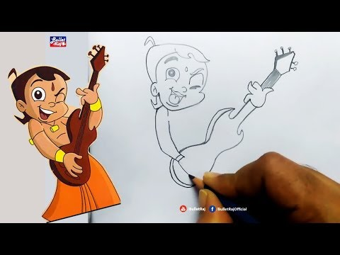 How To Draw Chhota Bheem For Kids Step By Step | Simple and Easy Sketches For Beginners | Bullet Raj