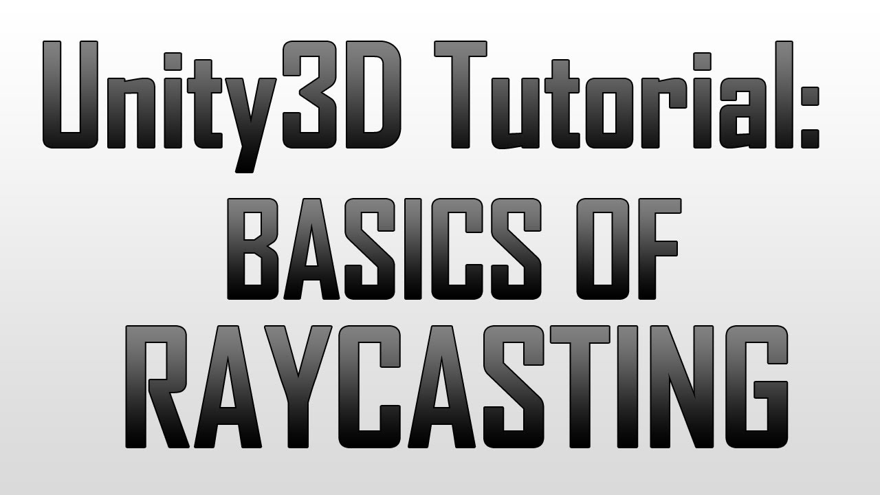 [Unity3D] Picking up items using raycasting in Unity3D