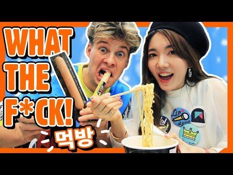 BIZARRE Korean Snacks! fx. MintYuri  | HelloRasmus