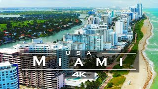 Miami, USA 🇺🇸 - by drone [4K]