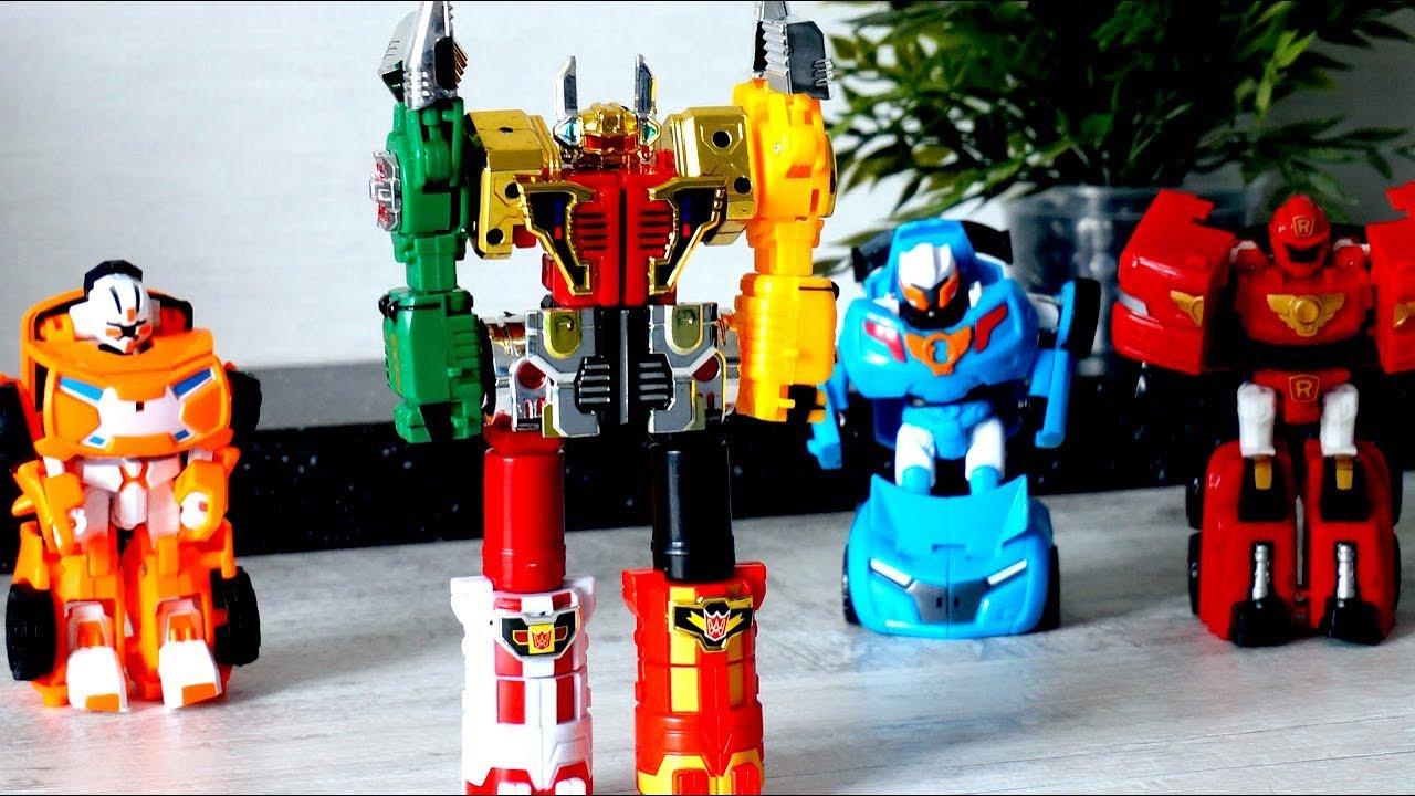 Видео с игрушками для мальчиков. Тоботы и робот ...